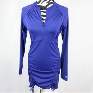 Athleta Rash Guard Swim Shirt Cover Purple/Blue M